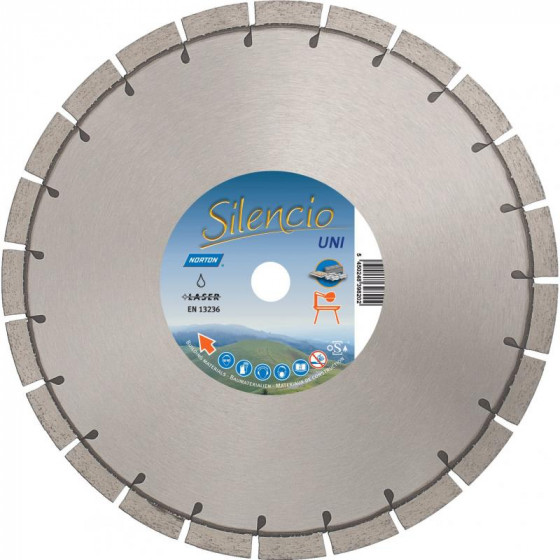 Disque diamant NORTON Silencio Ø 300mm Alésage 25.4 mm- 70184640269