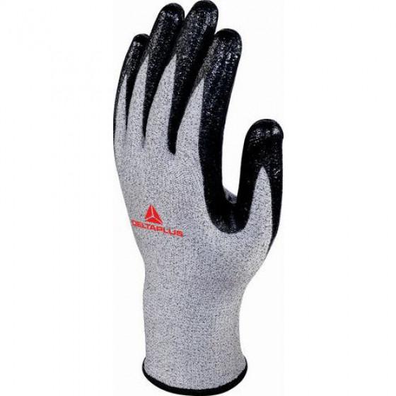 Gant tricot ECONOCUT Gris / Noir Paume enduite VENICUT43  Lot de 3 DELTA PLUS -  VECUT43G30