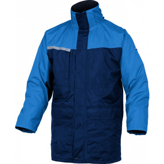 Parka 2 EN 1 polyester enduit pvc Bleu marine/ bleu roi DELTA PLUS- ALAS2BR0