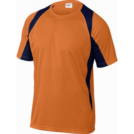 DELTA PLUS- TEE-SHIRT 100% POLYESTER Orange-Bleu Marine -BALIOM0