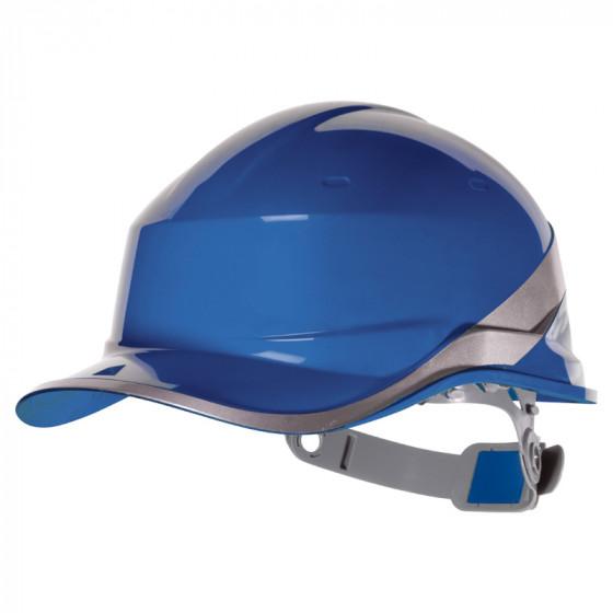 DELTA PLUS-CASQUE DE CHANTIER FORME CASQUETTE BASEBALL-DIAM5BLFL-Bleu