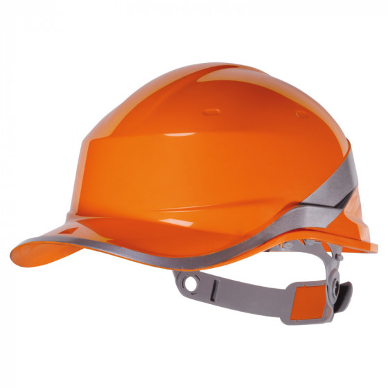 DELTA PLUS-CASQUE DE CHANTIER FORME CASQUETTE BASEBALL-DIAM5ORFL-Orange
