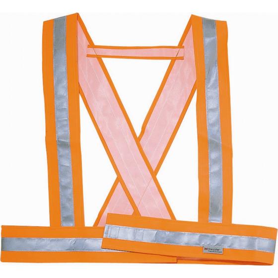 DELTA PLUS- BAUDRIER DE SIGNALISATION EN PVC FLUORESCENT- BAUCE0