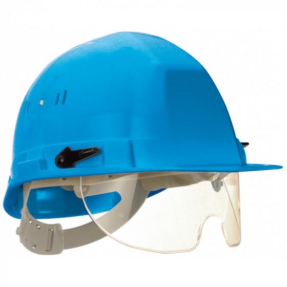 SOFOP TALIAPLAST-Casque polyéthylène à molette avec lunette intégrée Visiocéanic bleu- 564824
