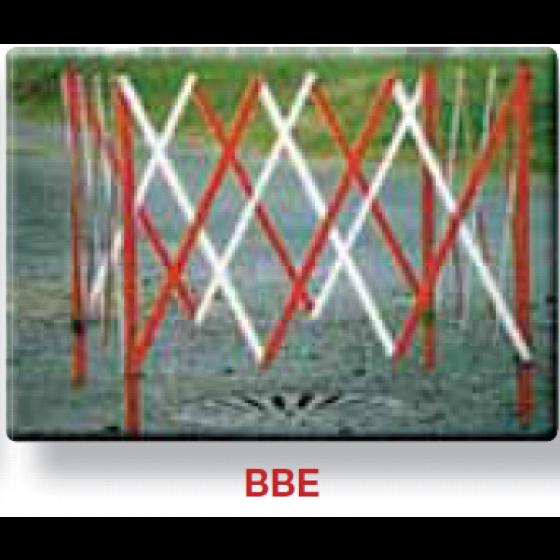 NADIA- Barrières de travaux extensible carree blanche et rouge-BBE