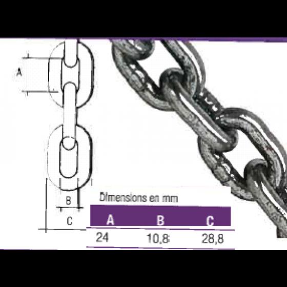 COBALTIX- Chaîne Grade 80 Ø 8 mm vendu au métre - MACCH8