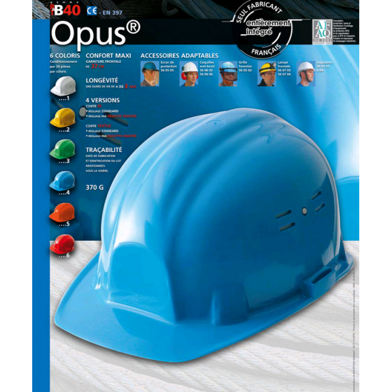 Casque de chantier OPUS jaune  SOFOP TALIAPLAST - 564002