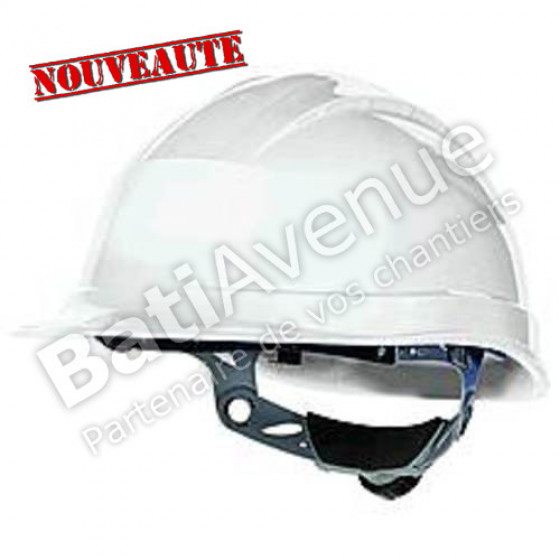 DELTA PLUS- SUPER QUARTZ  CASQUE DE CHANTIER SERRAGE BOUTON blanc- QUARSBC0