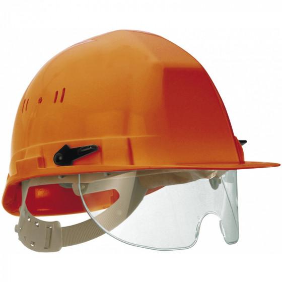 SOFOP TALIAPLAST-Casque polyéthylène à molette avec lunette intégrée Visiocéanic Orange-564825