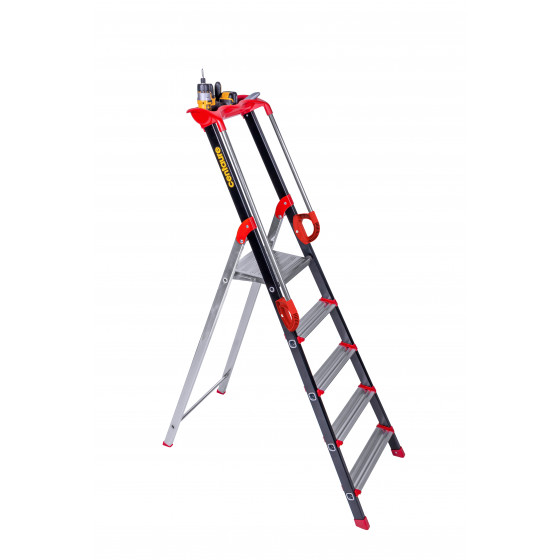 Escabeaux Aluminium Pro'UP CENTAURE 5 marches serties -239205