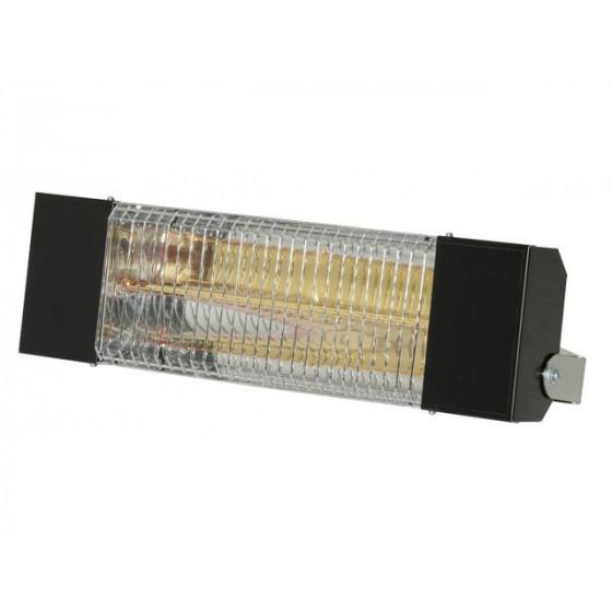 SOVELOR- Chauffage radiant infrarouge électrique IPX5 halogènes à quartz. Epoxy noir - IRC1500CN