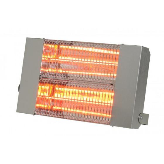 SOVELOR- Chauffage radiant infrarouge électrique IPX5 halogènes à quartz. Inox - IRC3000CI