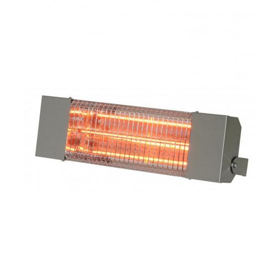 SOVELOR- Chauffage radiant infrarouge électrique IPX5 halogènes à quartz. Inox - IRC1500CI
