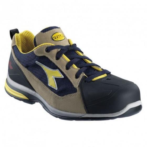Chaussure de sécurité basse DIADORA JET textile Beige/Bleu faience-158596-42-42