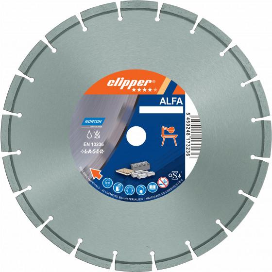 Disque diamant NORTON ALFA Ø 400 mm Alésage 25.4 mm - 70184610679