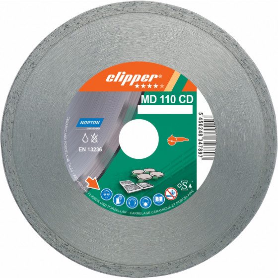 Disque diamant NORTON MD 110 CD Ø 180 mm Alésage 22.23 - 70184625944