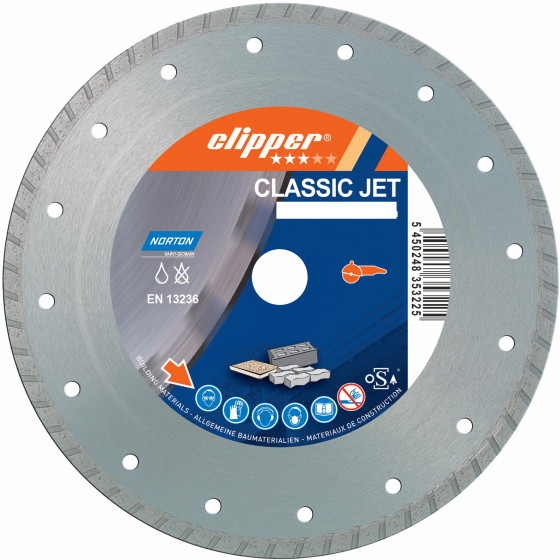 Disque diamant NORTON Classic Jet Ø 230 mm Alésage 22.23 mm- 70184626818