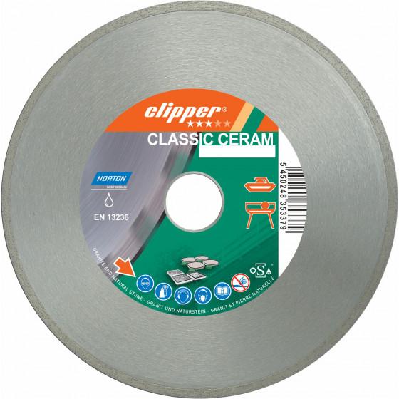 Disque diamant NORTON CLASSIC CERAM  Ø 230 mm Alésage 25.4 - 70184628734
