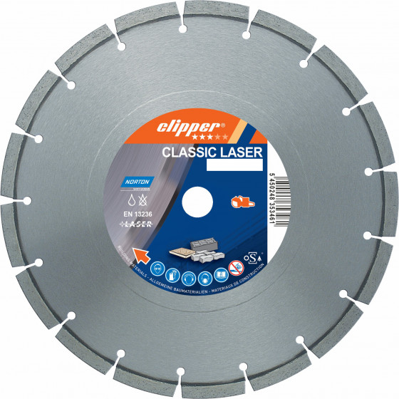 Disque diamant NORTON Classic Laser Ø 230mm Alésage 22.23 mm- 70184626838