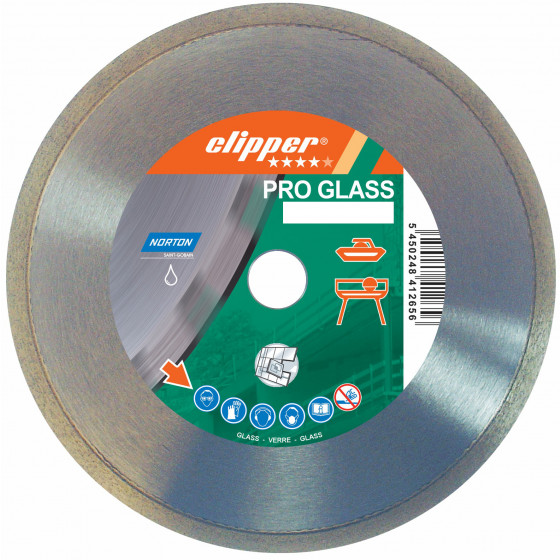 Disque diamant NORTON Pro Glass  Ø 200 mm Alésage 25.4 - 70184630185