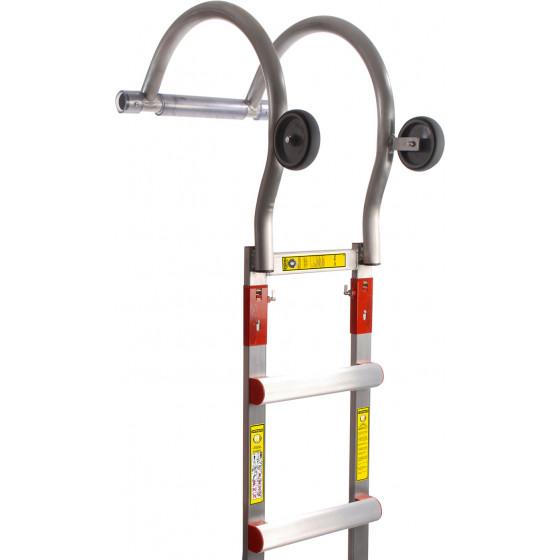 Crochet de faîtage aluminium pour échelles de toit Aluminium - 485001