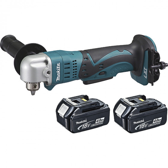 Perceuse visseuse d\'angle MAKITA 18 V Li-Ion 4 Ah Ø 10 mm à clé + 2 batteries + Coffret  MAK-PAC - DDA350RMJ