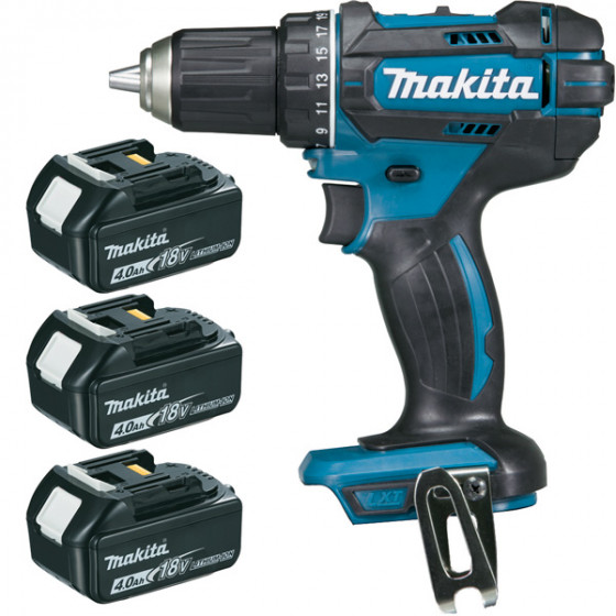 Perceuse visseuse 18 V Li-Ion 4 Ah Ø 13 mm (3 batteries)MAKITA - DDF482RM3J