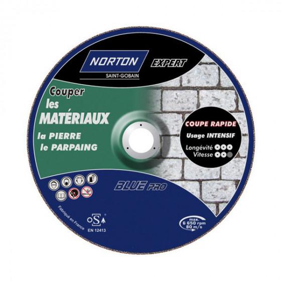 Disque de tronconnage Norton Expert Ø 115 Epaisseur 1.6 pour meuleuse d'angle-66252833082