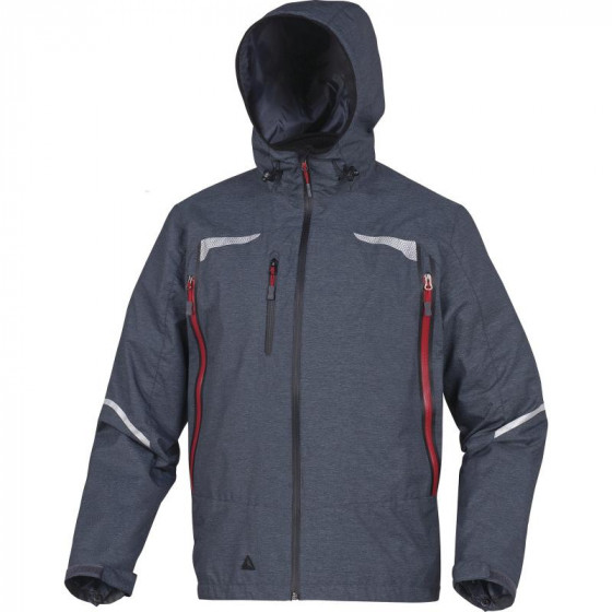 Parka 3 EN 1 avec veste amovible softshell polyamide /Polyester enduit Gris DELTA PLUS -EOLEGR0