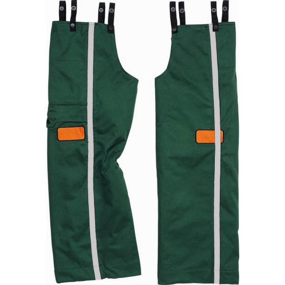 DELTA PLUS-DOUGLAS 3 JAMBIERES BUCHERON - DOUBLURE AVEC COMPLEXE ANTI-COUPURE Vert / Orange- DOUG3VETU