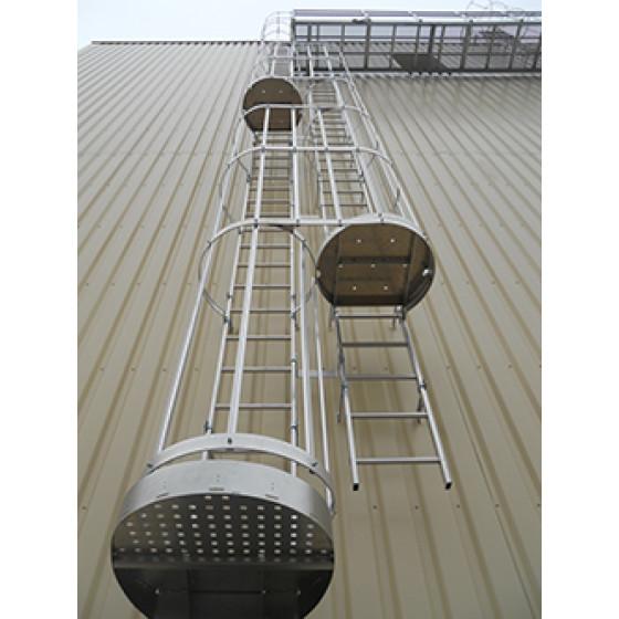 Echelles à crinolines aluminium CENTAURE Hauteur à franchir 4.90 à  5.74m - 255816