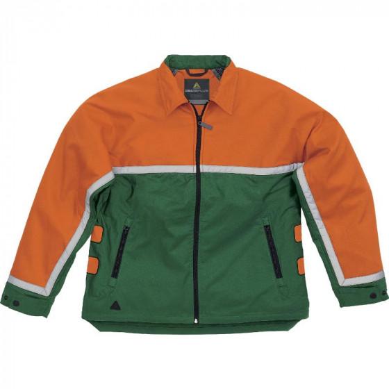 VESTE BUCHERON DOUBLURE AVEC COMPLEXE ANTI-COUPURE Vert / Orange DELTA PLUS EPICEA III - EPIC3VE0