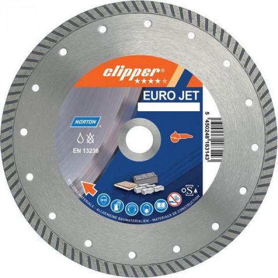 Disque diamant NORTON Euro Jet Ø 115 mm Alésage 22.23 mm- 70184610314