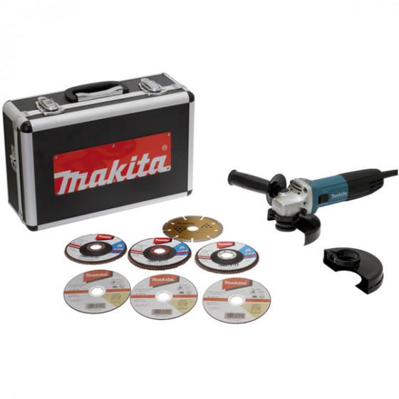 MEULEUSE MAKITA 125MM 720W ANTI-REDEMARRAGE+COFF ALU+KIT - GA5030RSP6