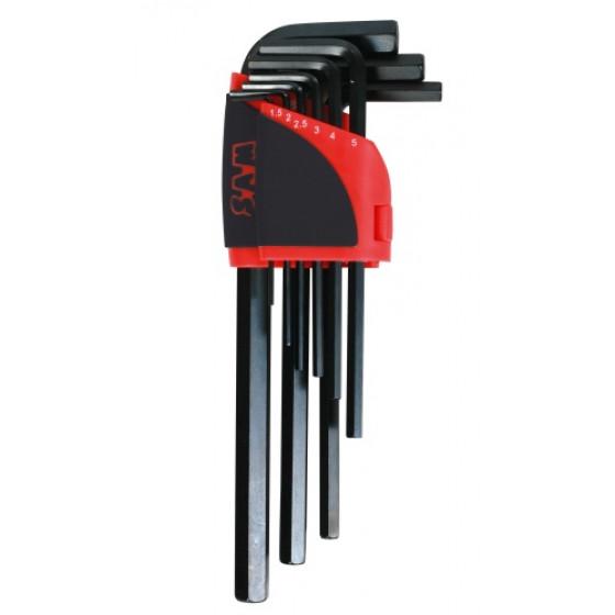 Ratelier de 9 clés mâles 6 pans longues en mm SAM OUTILLAGE-63-R9A