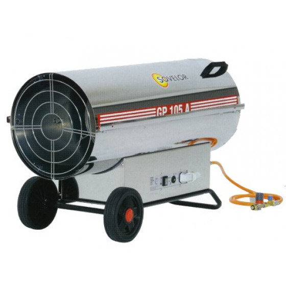 Chauffage SOVELOR GP55AI air pulsé mobiles au gaz propane inox