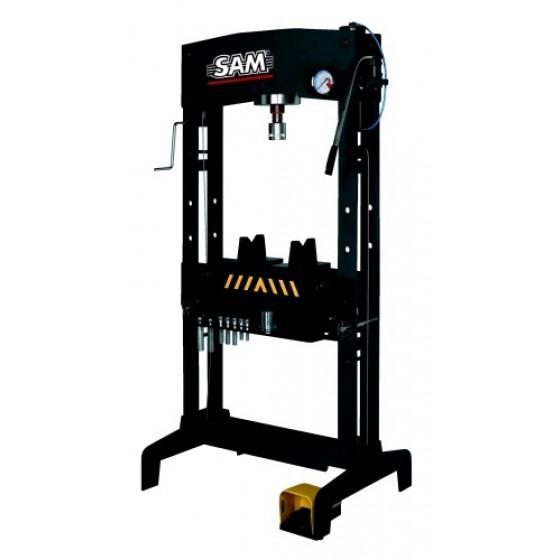 SAM OUTILLAGE-Presses hydrauliques à colonnes avec pédale -HP-30-AN