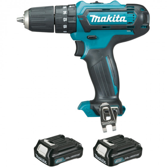 Perceuse visseuse à percussion MAKITA 10,8 V Li-Ion 2 Ah CXT Ø 10 mm - HP331DWAE
