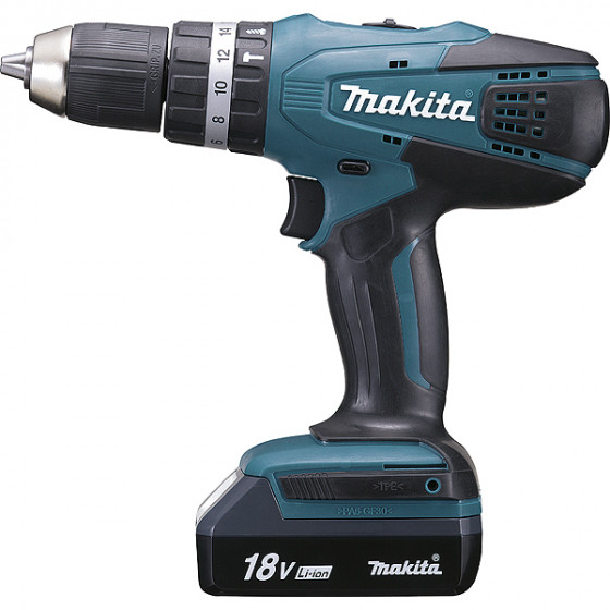 Perceuse visseuse à percussion 18 V Li-Ion 1,3 Ah Ø 13 mm MAKITA - HP457DWE