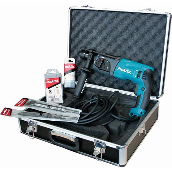 Coffret Aluminium avec Perfo-burineur SDS-Plus 780 W 24 mm MAKITA + Accessoires -HR2470TX1