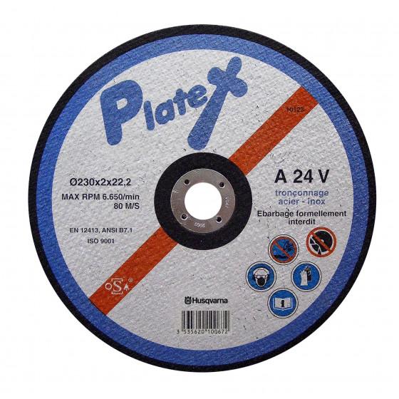 Disque de tronçonnage PLATEX A 46T Ø 115 ACIER INOX alésage 22,2 HUSQVARNA-543058913