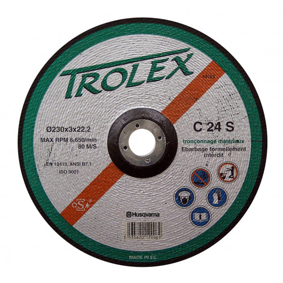 Disque TROLEX C24S Matériaux de construction Ø 230  alésage 22.2 HUSQVARNA-543059227