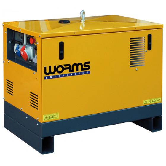WORMS ROBIN SUBARU-GROUPE ELECTROGENE INSONORISE TRIPHASE DIESEL-13000DTAVRYN