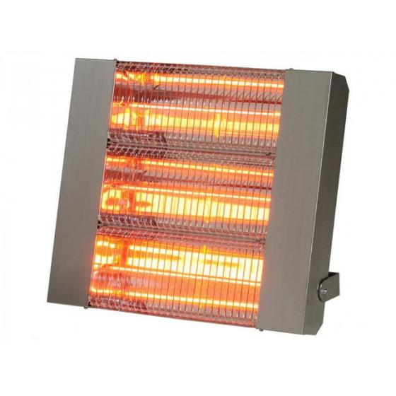 SOVELOR- Chauffage radiant infrarouge électrique IPX5 halogènes à quartz. Inox - IRC4500CI