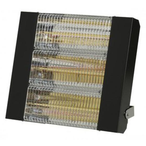 SOVELOR- Chauffage radiant infrarouge électrique IPX5 halogènes à quartz. Epoxy Noir - IRC4500CN