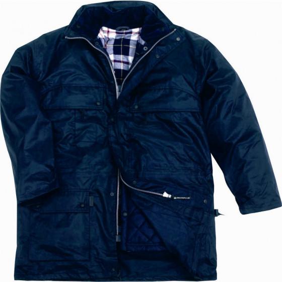 DELTA PLUS- ISOLA PARKA POLYESTER ENDUIT PVC Bleu Marine -ISOLABL0