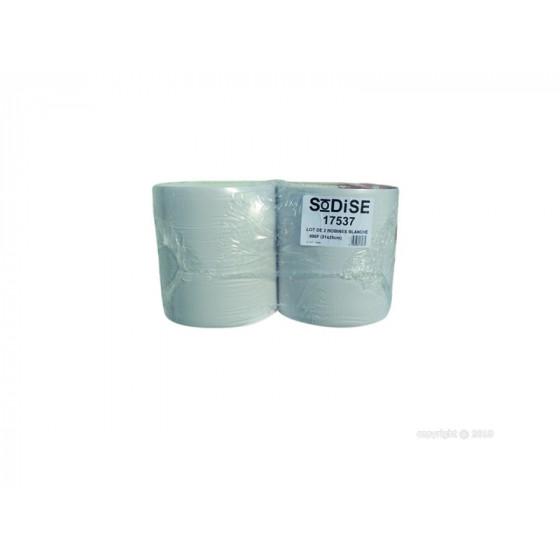SODISE- Lot 2 bobines, blanc eco 800 formats-210x250 - 17537
