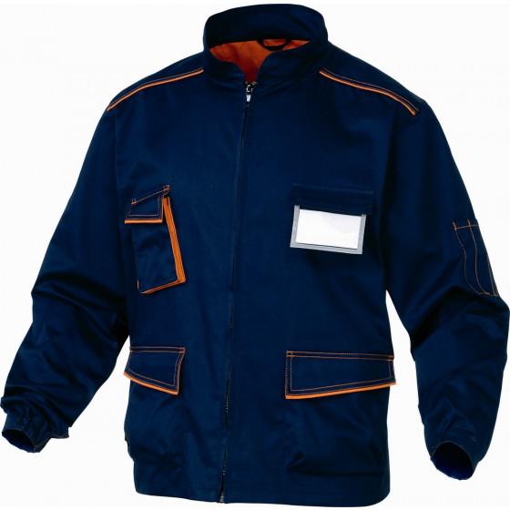 DELTA PLUS- VESTE DE TRAVAIL PANOSTYLE® POLYESTER COTON Bleu Marine / Orange-M6VESBM0
