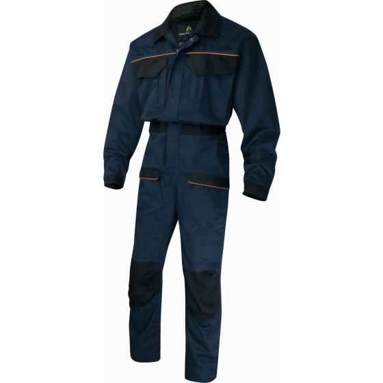 DELTA PLUS-COMBINAISON DE TRAVAIL MACH2 CORPORATE EN POLYESTER COTON Bleu Marine /Noir -MCCOMBM0