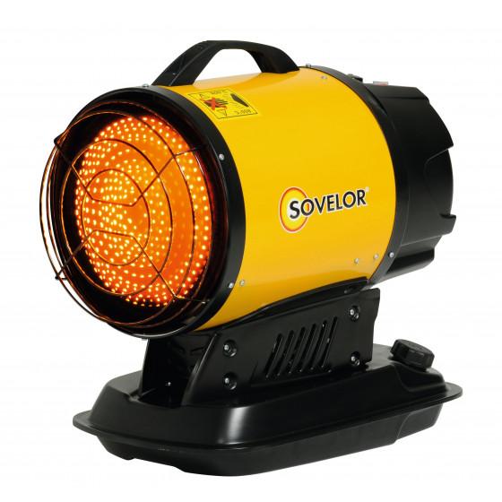 Chauffage SOVELOR MINI SUN radiant portable au fuel à combustion directe